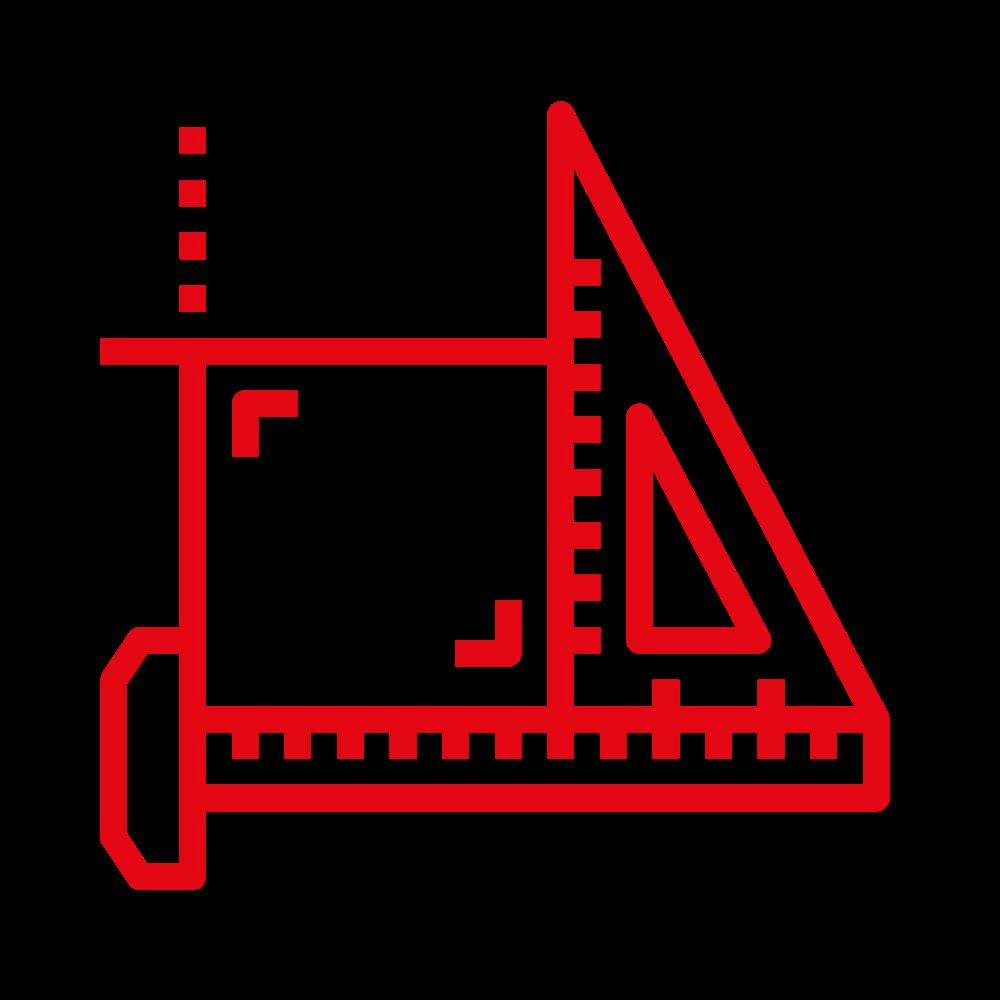 icone service règle équerre